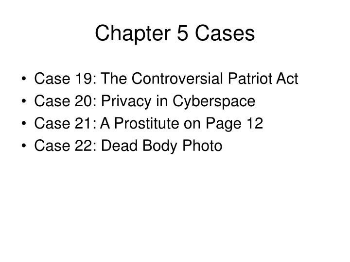 Chapter 5 Cases