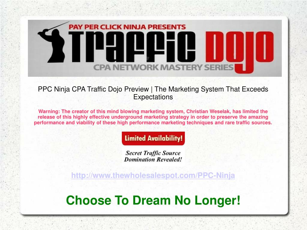 PPC Ninja CPA Traffic Dojo Preview | The Marketing System That Exceeds Expectations