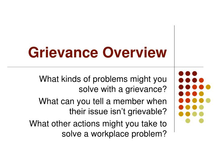 Grievance Overview