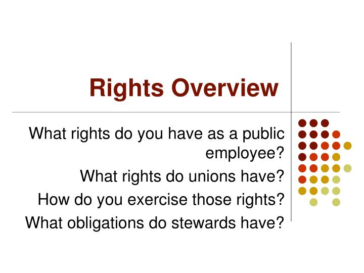 Rights Overview