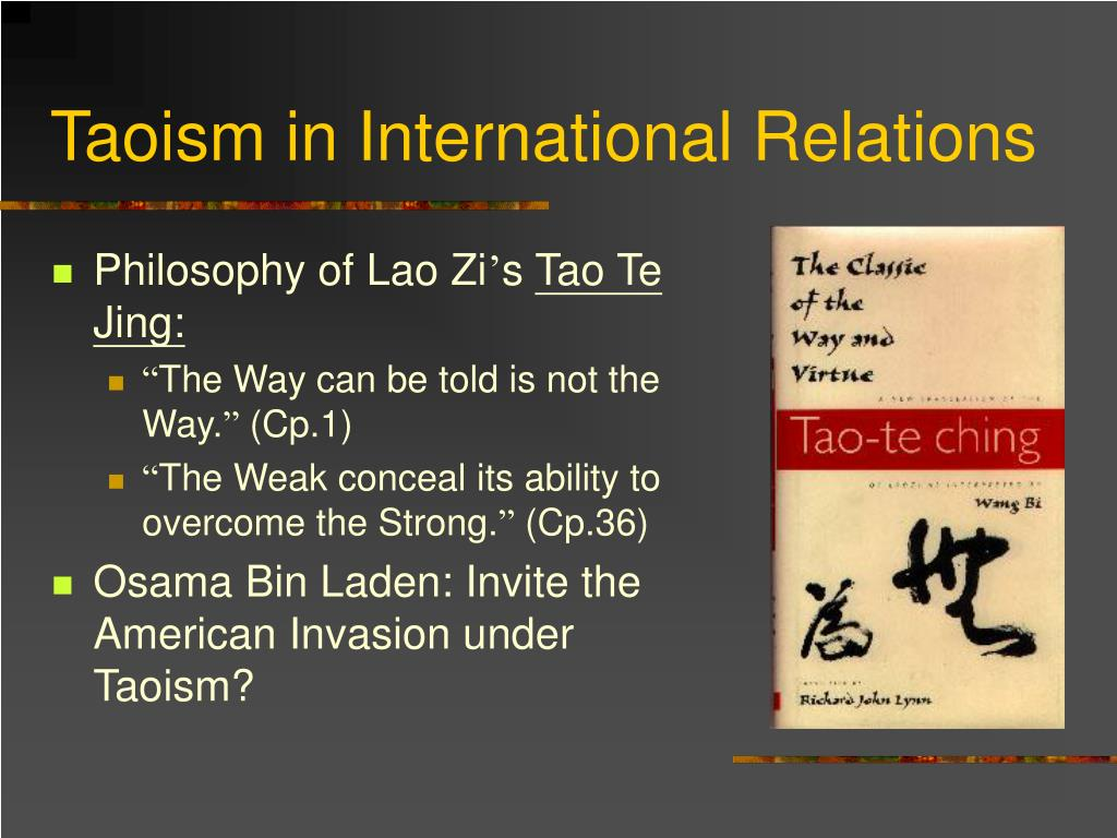 Taoism in International Relations