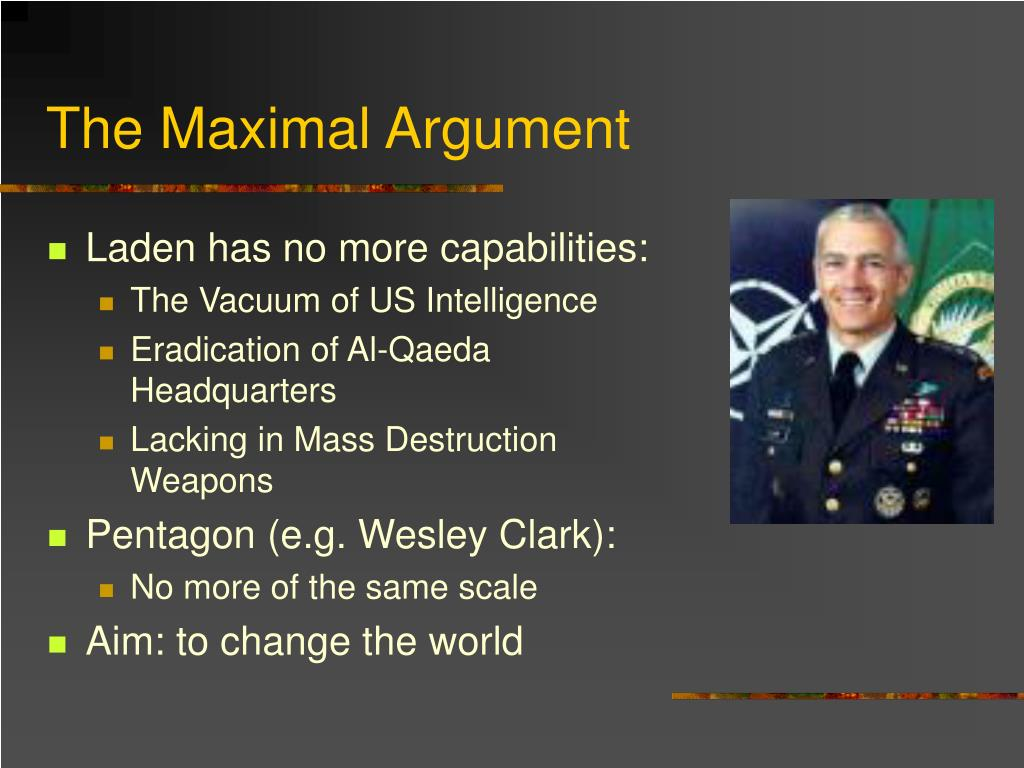 The Maximal Argument