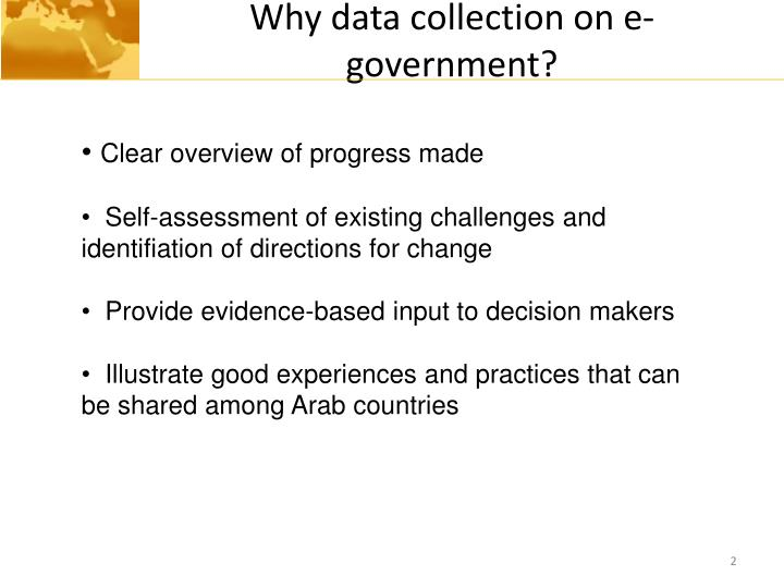 Why data collection on e government