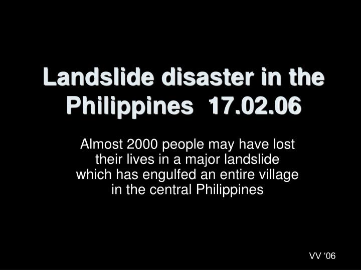 Landslide disaster in the philippines 17 02 06