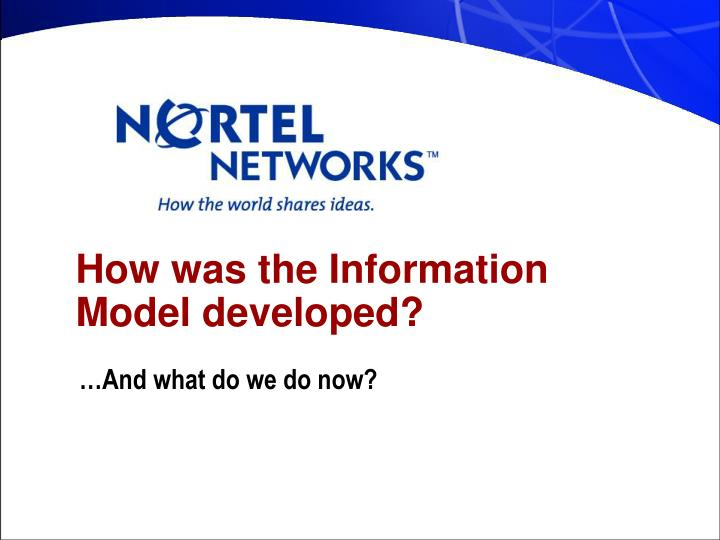 How was the Information Model developed?