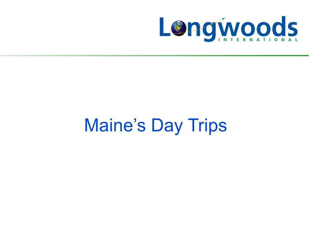 Maine's Day Trips