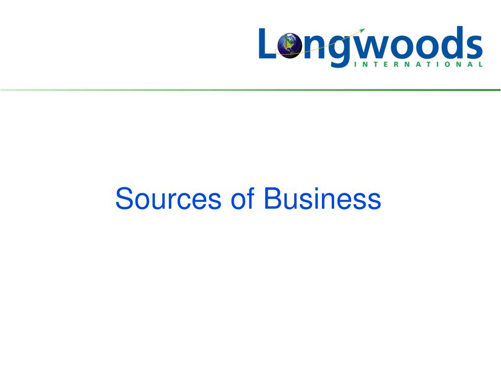 Sources of Business