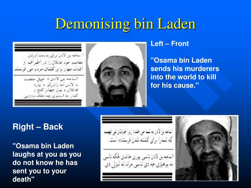Demonising bin Laden