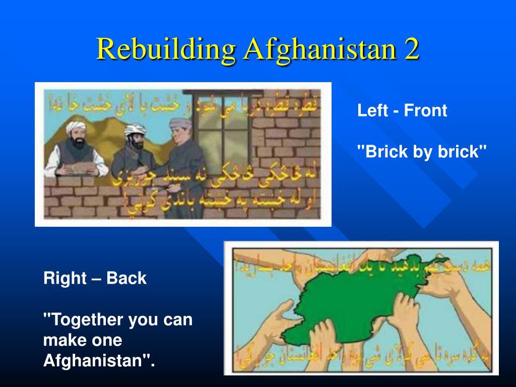 Rebuilding Afghanistan 2