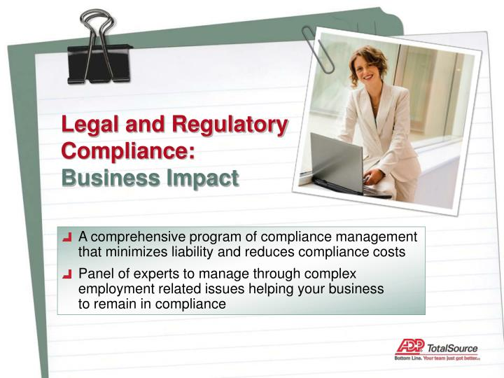 Legal and Regulatory