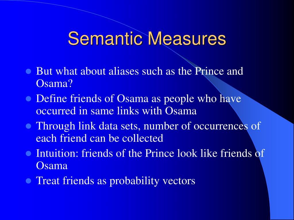 Semantic Measures