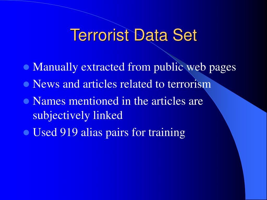 Terrorist Data Set