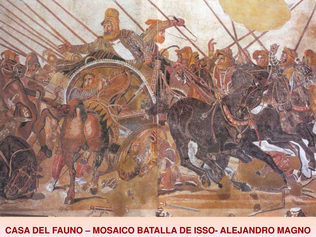 CASA DEL FAUNO – MOSAICO BATALLA DE ISSO- ALEJANDRO MAGNO