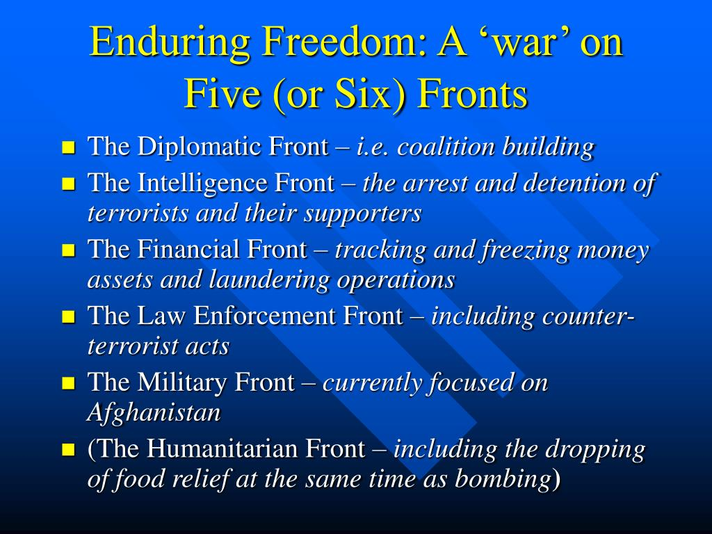 Enduring Freedom: A 'war' on Five