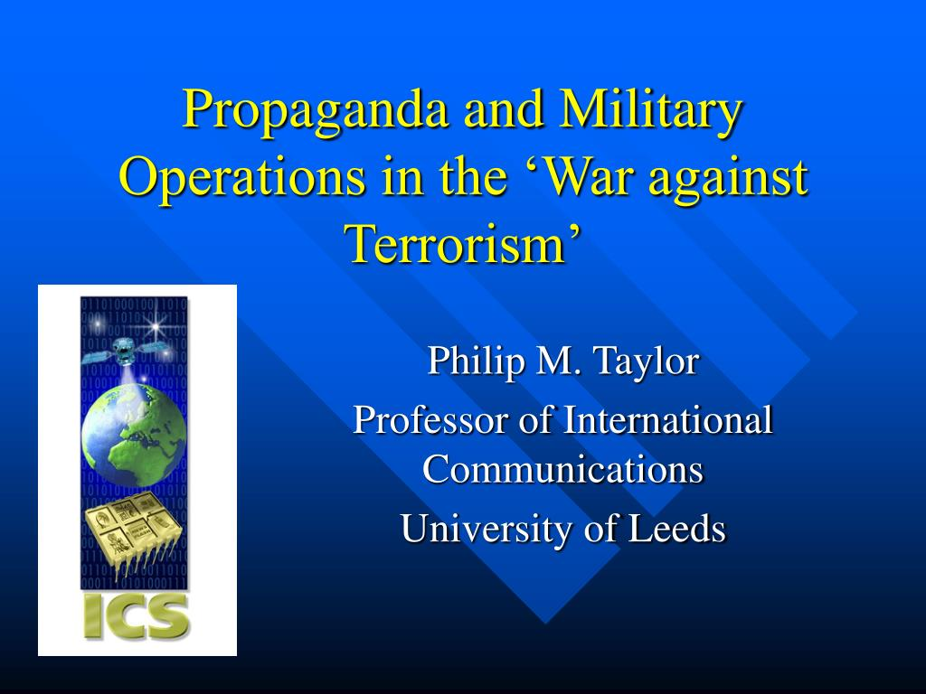 Propaganda and Military Operations in the 'War against Terrorism'