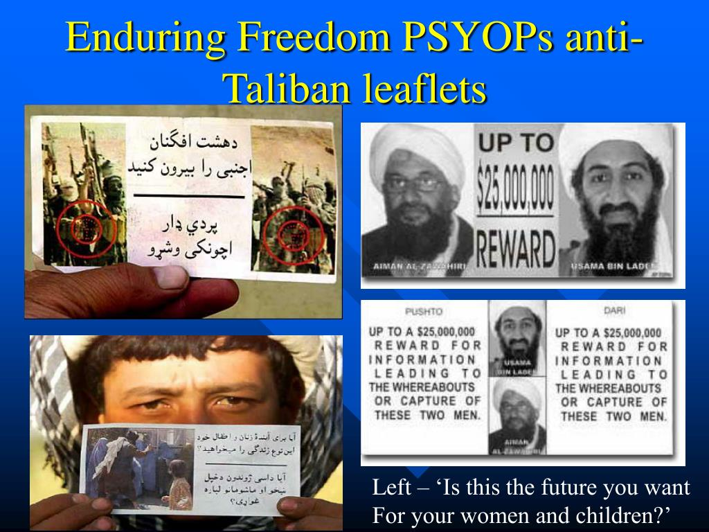 Enduring Freedom PSYOPs anti-Taliban leaflets