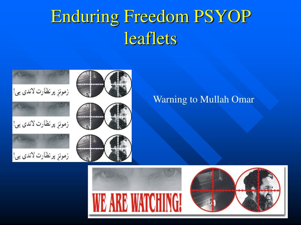 Enduring Freedom PSYOP leaflets