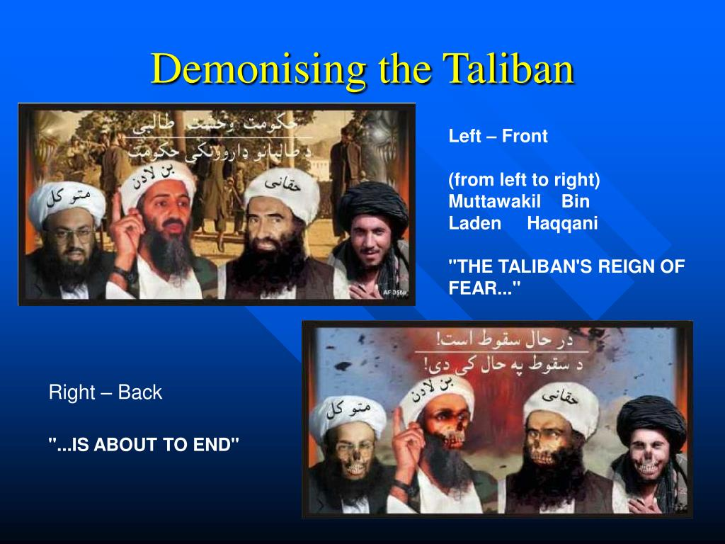 Demonising the Taliban
