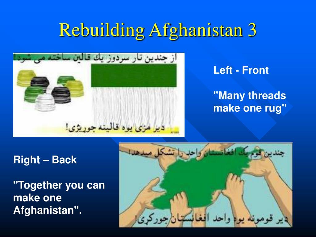 Rebuilding Afghanistan 3