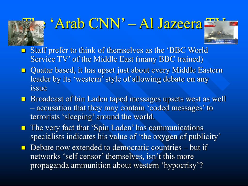 The 'Arab CNN' – Al Jazeera TV