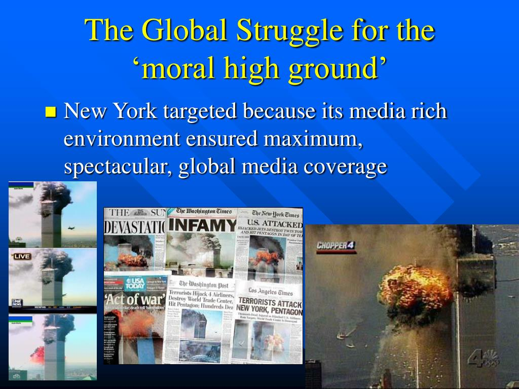 The Global Struggle for the 'moral high ground'