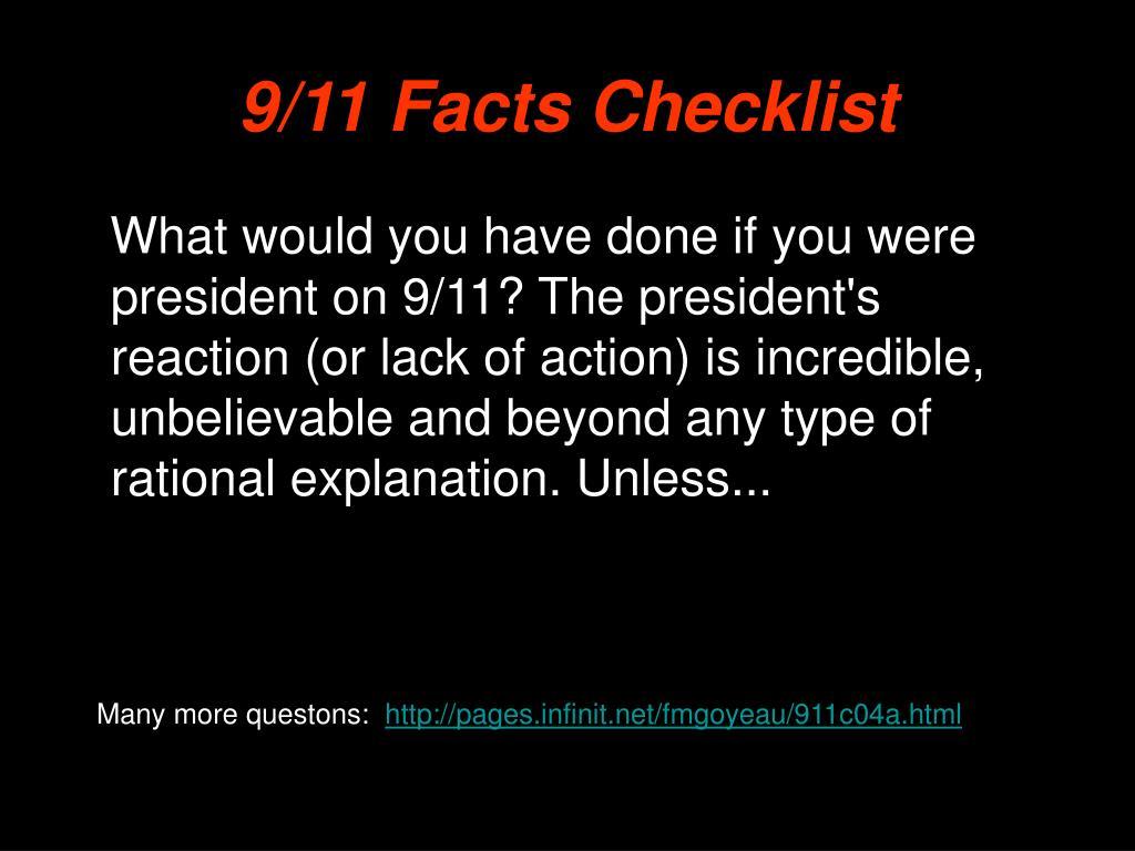 9/11 Facts Checklist