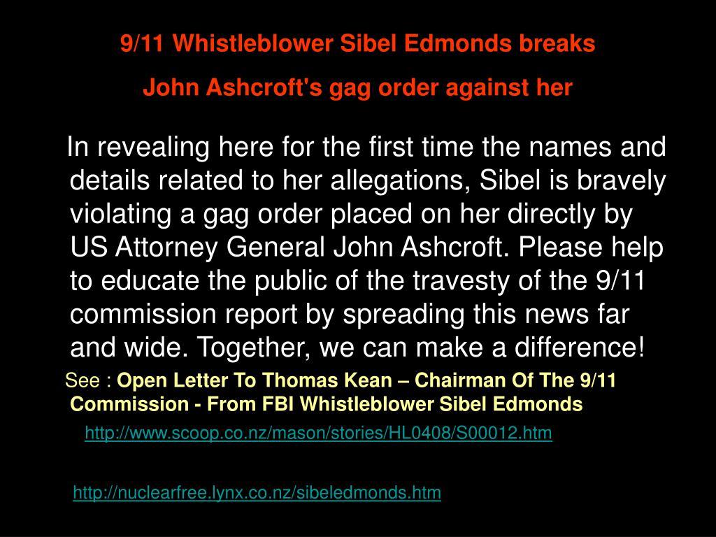9/11 Whistleblower Sibel Edmonds breaks