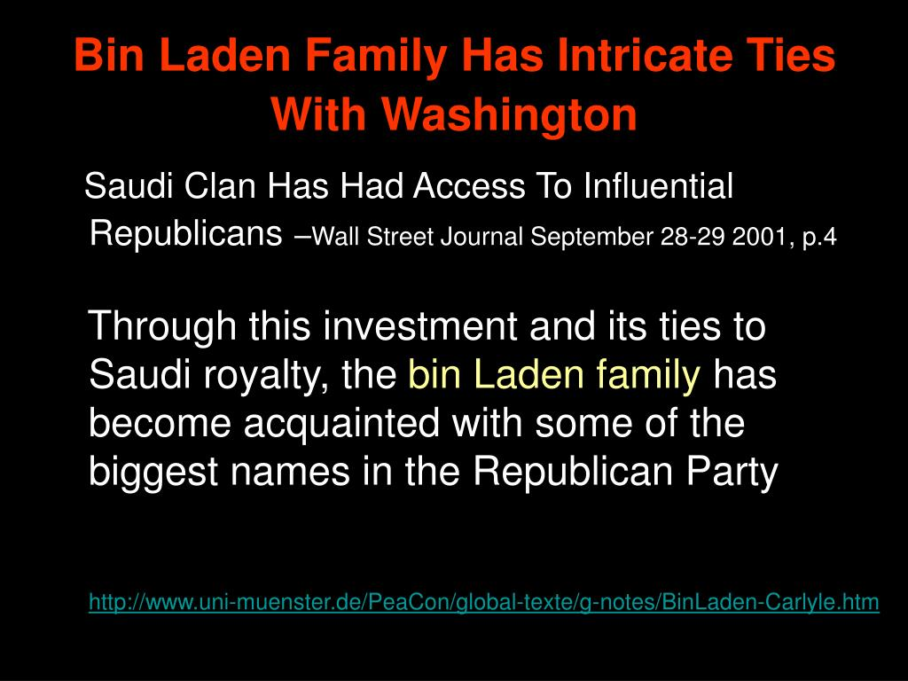 Bin Laden Family Has Intricate Ties With Washington