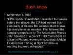 bush knew123