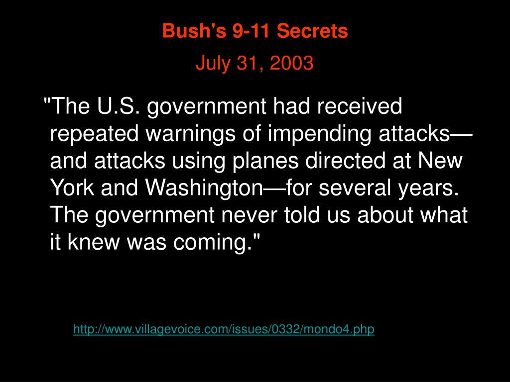 Bush's 9-11 Secrets