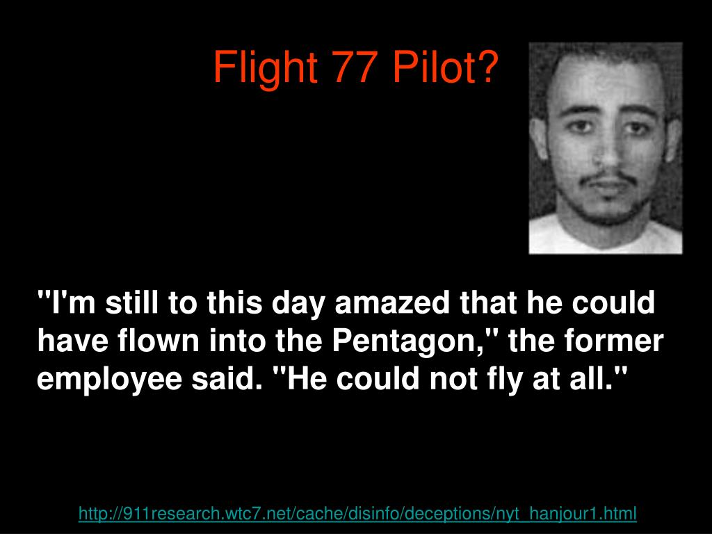 Flight 77 Pilot?