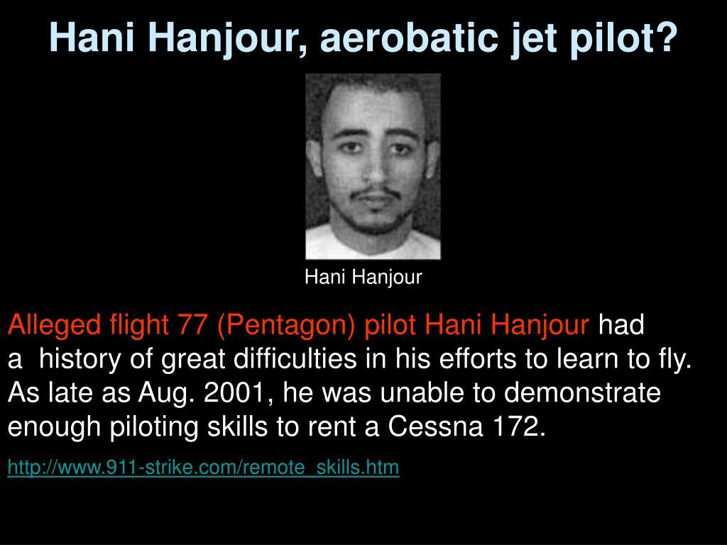 Hani Hanjour, aerobatic jet pilot?