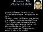 mohammed atta not a devout muslim
