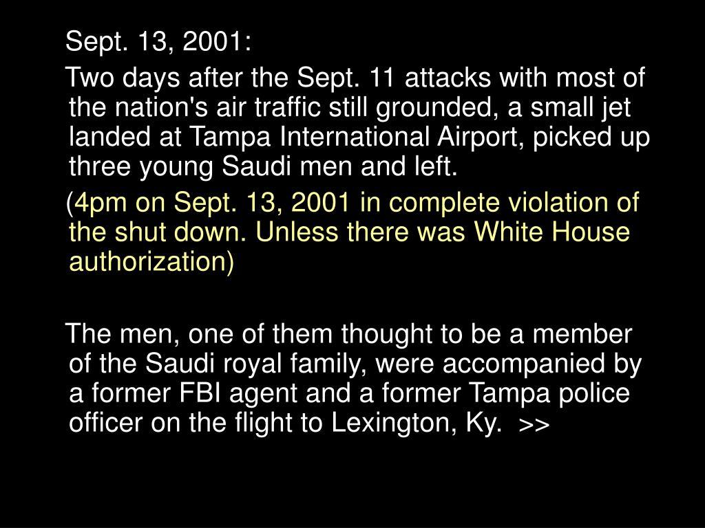 Sept. 13, 2001: