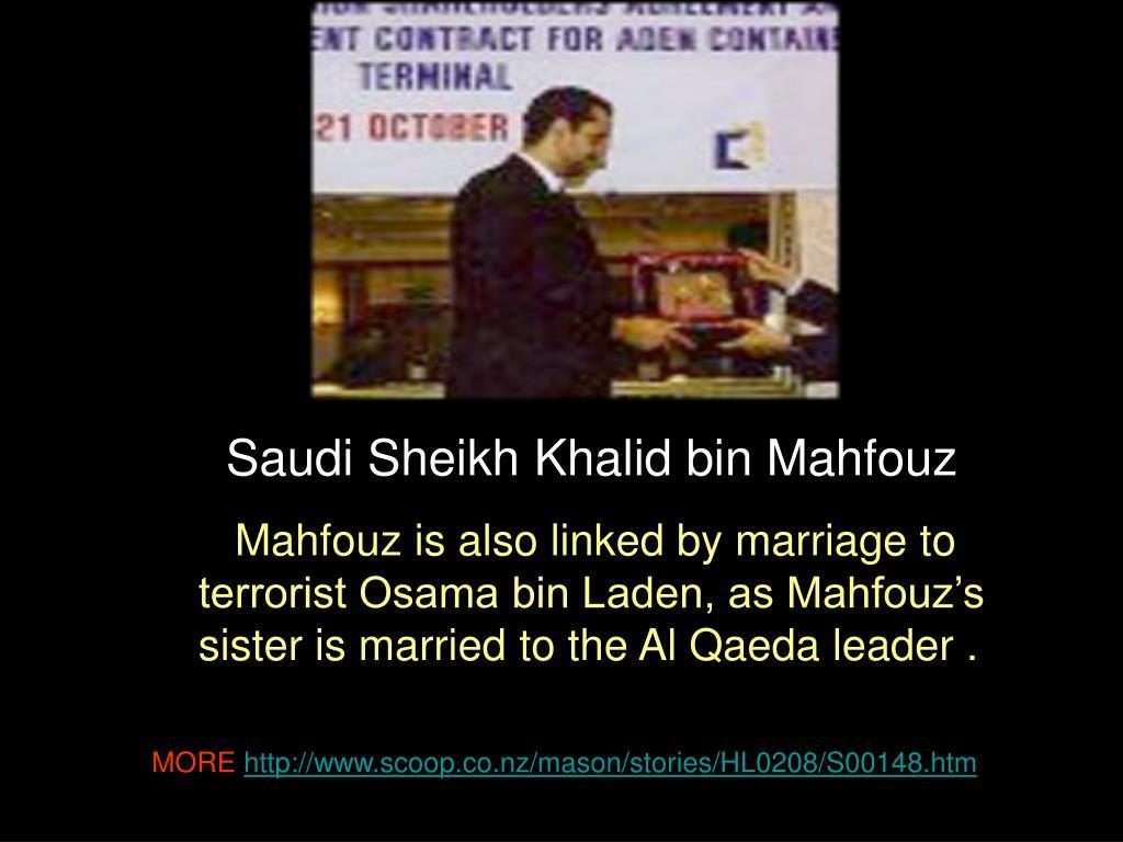 Saudi Sheikh Khalid bin Mahfouz