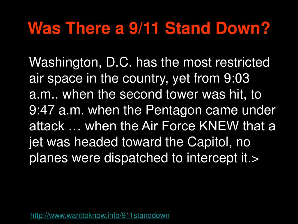 Was There a 9/11 Stand Down?