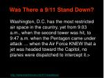 was there a 9 11 stand down92