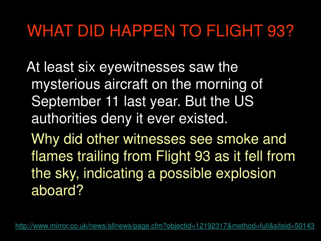WHAT DID HAPPEN TO FLIGHT 93?