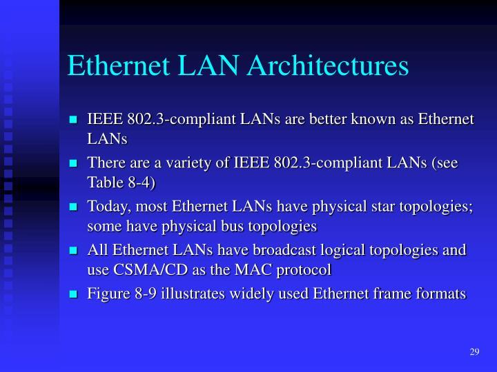Ethernet LAN Architectures