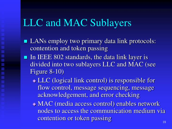 LLC and MAC Sublayers