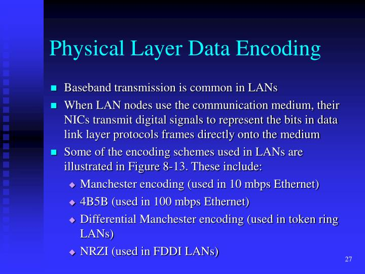 Physical Layer Data Encoding