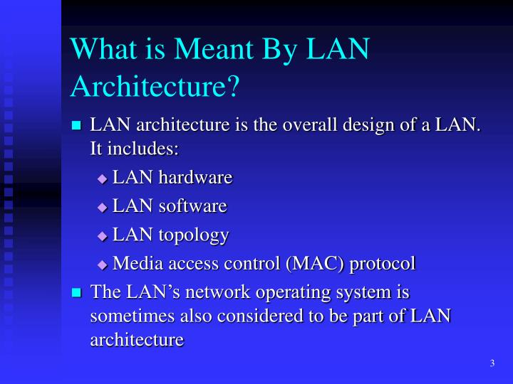 What is meant by lan architecture