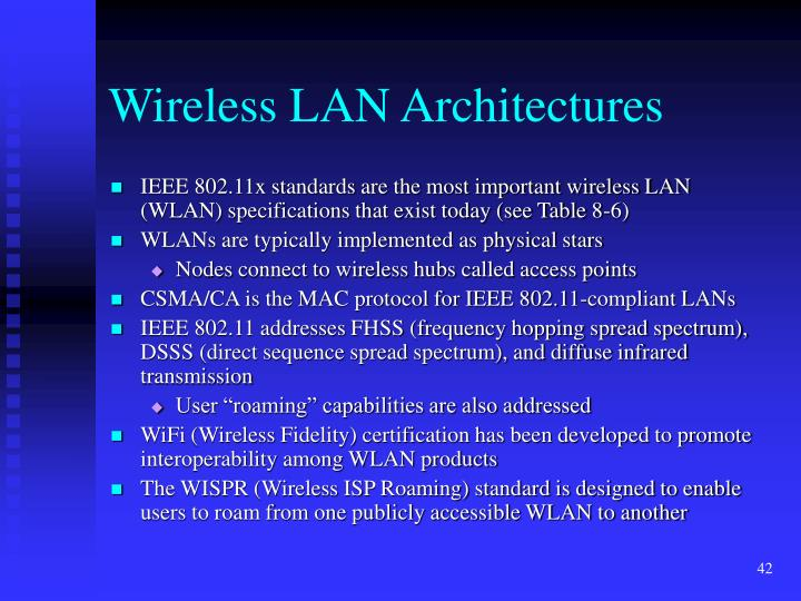 Wireless LAN Architectures