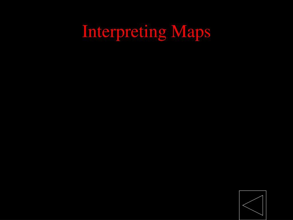 Interpreting Maps