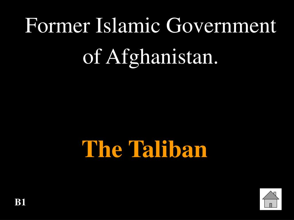 Former Islamic Government of Afghanistan.