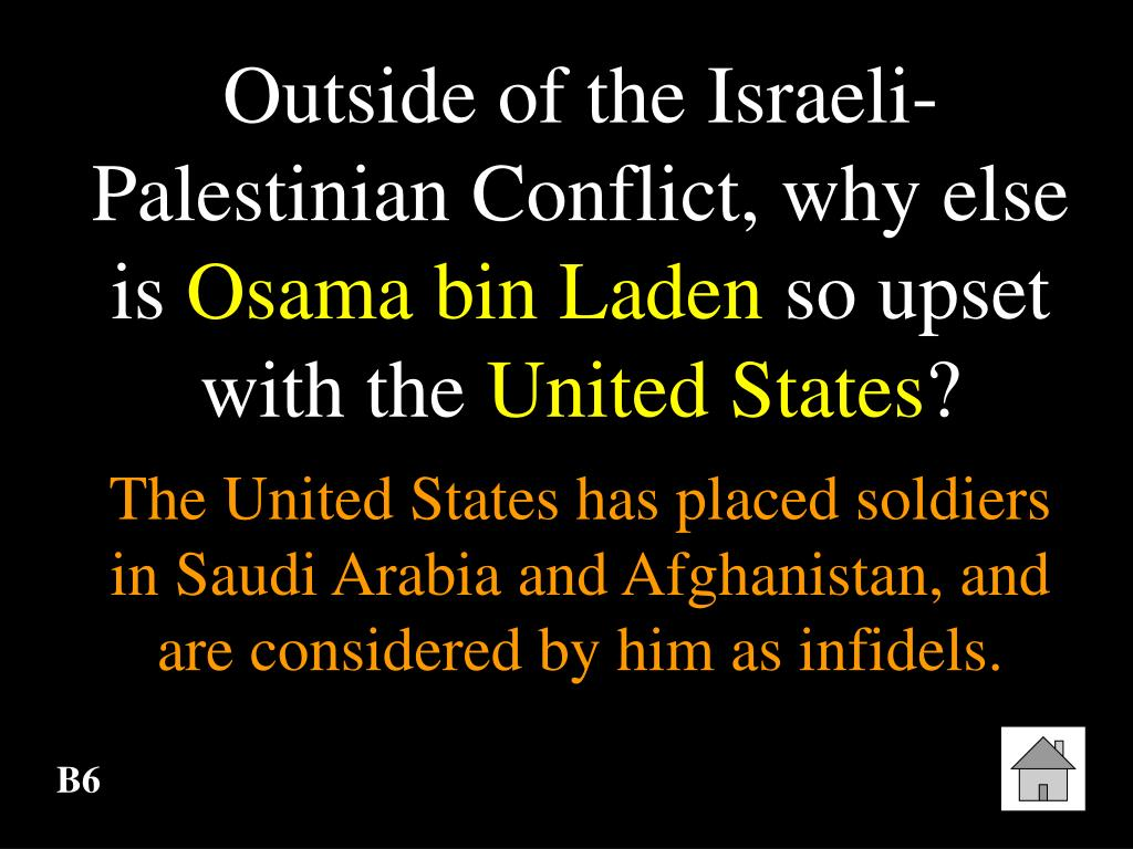 Outside of the Israeli-Palestinian Conflict, why else is