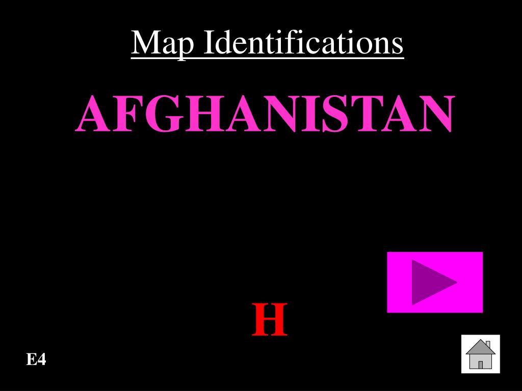 Map Identifications