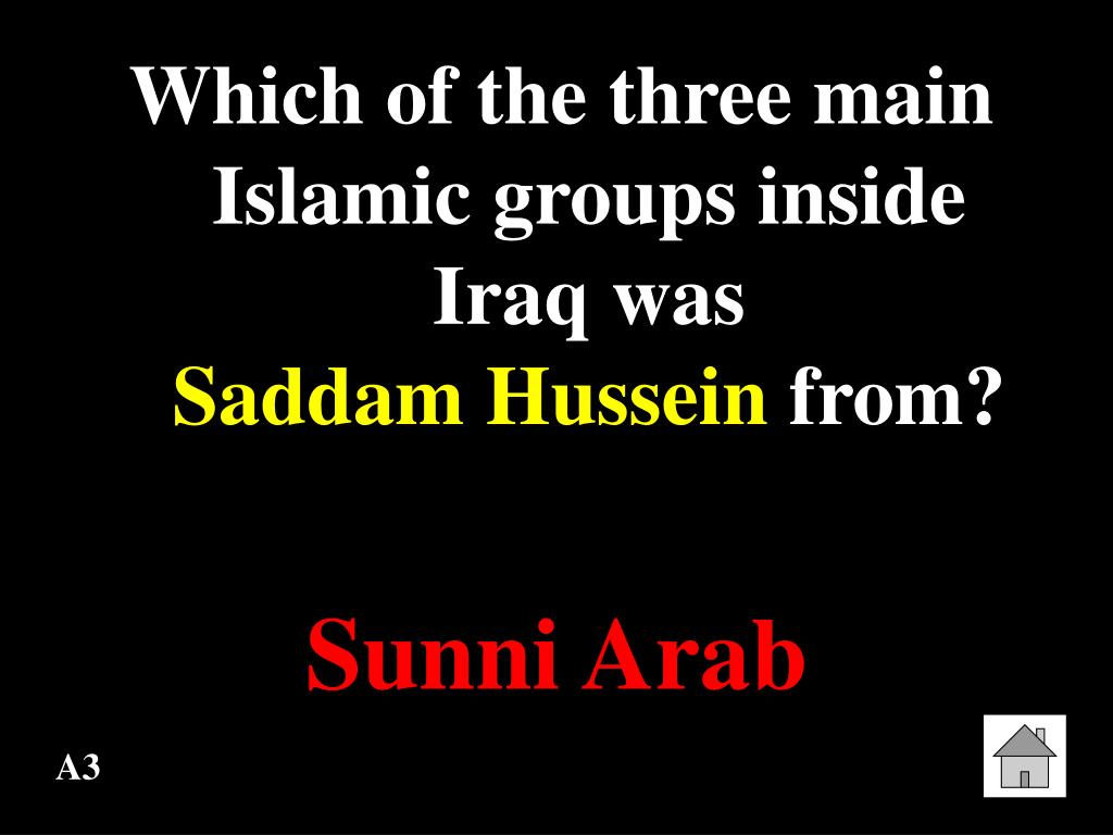 Which of the three main Islamic groups inside Iraq was