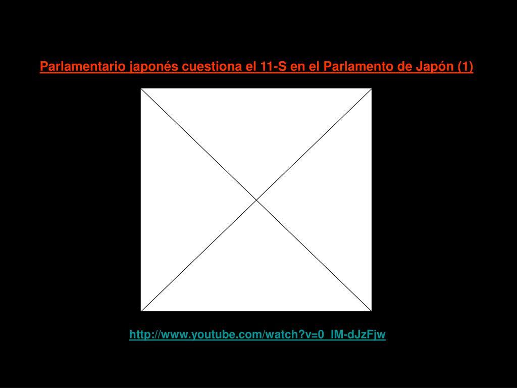 Parlamentario japonés cuestiona el 11-S en el Parlamento de Japón (1)