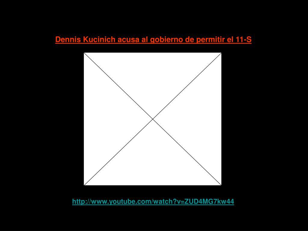 Dennis Kucinich acusa al gobierno de permitir el 11-S